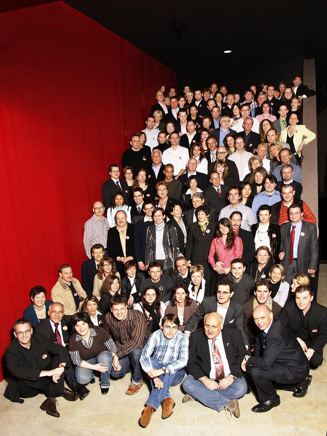 Gruppenfoto anlässlich Firmenanlass im Theater11